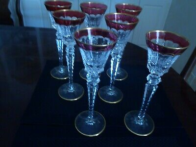 """St Louis  Crystal Excellence Red Hock Wines 10 1/4"""" (7 Available)"""