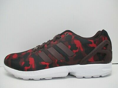 c9dc0816b NEW ADIDAS ORIGINALS ZX Flux Casual Sneakers Mens red black white sz ...