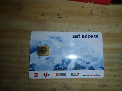 Tessera originale SVIZZERO SVIZZERA sat access leggi bene lotto stock NO TV-SAT