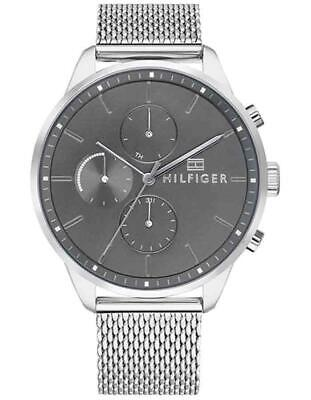 Tommy Hilfiger Mens Chase Watch - Stainless Steel - Chronograph - Mesh  Bracelet f956399e32