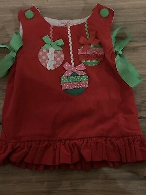 cde589291 MUD PIE HOLIDAY Red Corduroy Dress 0-6M months NEW RETAIL $32 U Can ...