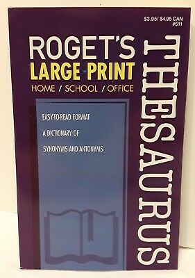 Large Print Roget's Thesaurus College Home School Office Brand New