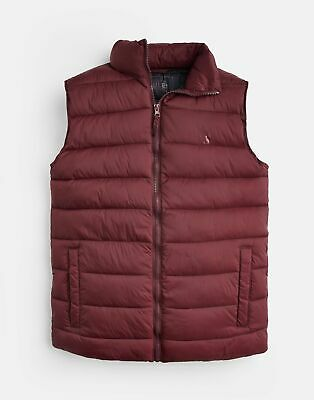 Joules Mens 204161 Lightweight Quilted Gilet Jacket in PORT