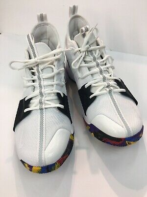 buy online 6994f 2440d NIKE PG 2 TS NCAA March Madness White Multi Color New 7.5 [AJ5163-100]  SNEAKERS