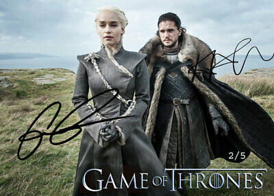 Emilia Clarke Kit Harington Dual Auto Season 8 Game of Thrones Promo Card 2/5
