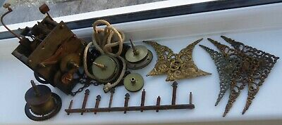 Antique  Longcase / Grandfather  Clock 30 Hr Movement And Spandrels And Parts
