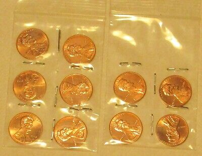 2009/10 Lincoln Bicentennial penny BU coins from Mint Rolls 10 coin set