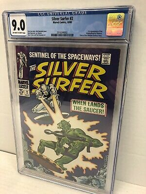 Silver Surfer 2 CGC 9.0 1st Appearance Of The Brotherhood Badoon