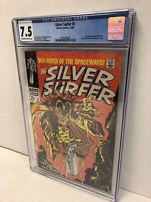 Silver Surfer 3 CGC 7.5 1st Appearance Of Mephisto Freshly Graded Nice