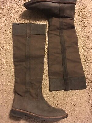 c76640b0fef Camper Knee High Riding boots Womens size 40   US 9 brown Leather   Canvas  Tall