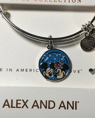 Disney Parks Alex And Ani 2019 Mickey And Minnie Mouse Silver Bracelet