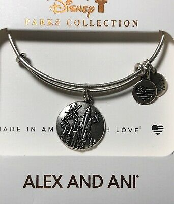 Disney Parks Alex And Ani Magic Kingdom Cinderella Castle Silver Bracelet