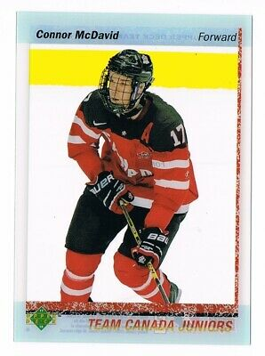 2017-18 Upper Deck Team Canada Clear Cut World Juniors #WJC-1 Connor McDavid