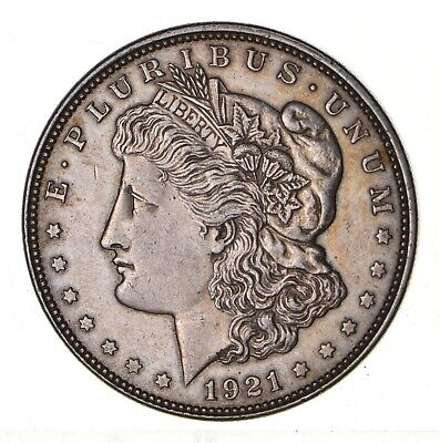 1921 - Morgan Silver Dollar - Last Year - 90% - US Coin *163