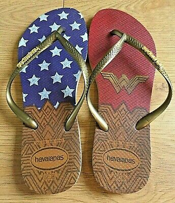 0024c4c37535b4 Limited Edition DC Wonder Woman Originals Havaianas Thongs Size US 7 8 EU  39