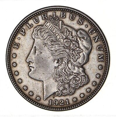 1921 - Morgan Silver Dollar - Last Year - 90% - US Coin *144