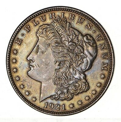 1921 - Morgan Silver Dollar - Last Year - 90% - US Coin *155
