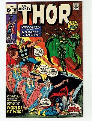 The Mighty Thor #186 (Mar 1971) HELA Goddess of Death- No Reserve/Free Shipping