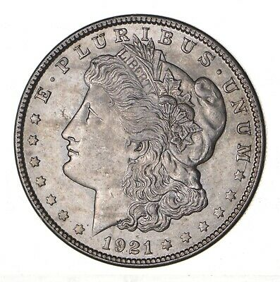 1921 - Morgan Silver Dollar - Last Year - 90% - US Coin *158