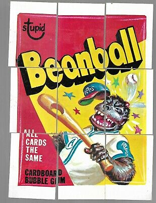 1973 Topps Wacky Packages Original 3rd Series 3 Complete Puzzle Set Beanball