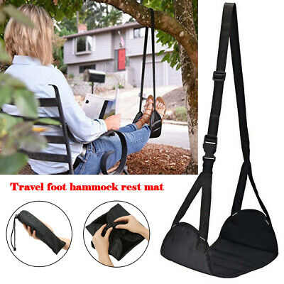 Comfy Hanger Travel Airplane Footrest Hammock Foot Made with Memory Foam Premium
