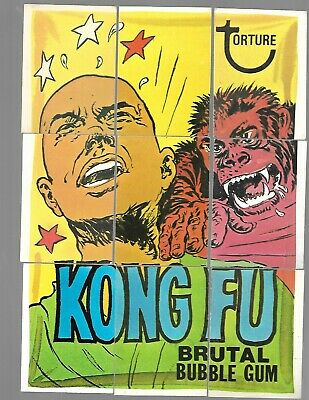 1974 Topps Wacky Packages Original 8th Series 8 Complete Puzzle Kong Fu