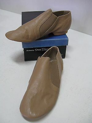 Paul Wright Split Sole Elastic Sided Jazz Boot, Shoes Tan Leather, Size 4, New