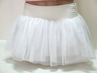 Bloch Girls or Women's Dance Tutu Skirt, Petite/Small  White Net on Band , NWT
