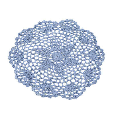 Round Hand Crochet Floral Lace Daily Placemat Table Mat Table Topper B