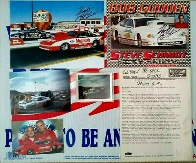 BOB GLIDDEN FORD Motorsports Signed Handout Pre Race Drag Racing Quotes +  Photo