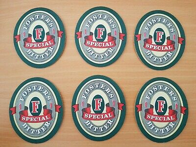 Fosters Special Bitter Beer Coasters circa 1990's - Set of 6