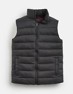 Joules Mens 203913 Lightweight Quilted Gilet Jacket in BLACK