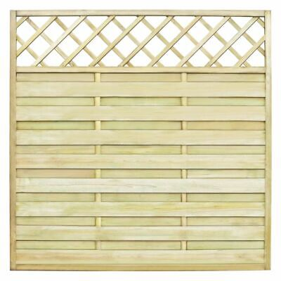 Garden Fence Square Panel with Trellis 180x180 cm Pinewood Green Impregnate X7H3