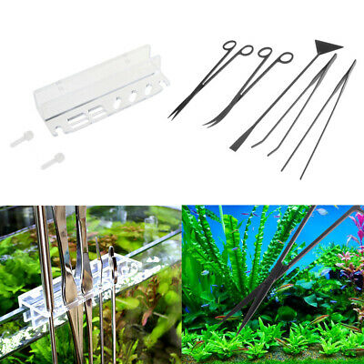 6in 1 Aquascaping Kits with Holder Storage Rack for Aquarium Fish Tank Plant