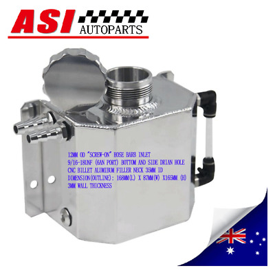 1L Coolant Radiator Overflow Recovery Water Tank Polished Universal Can ASI