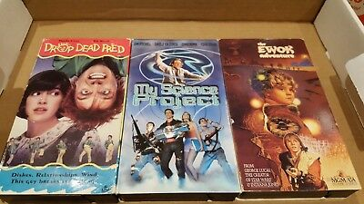 VHS lot Drop Dead Fred My Science Project The Ewok Adventure Rare GTO comedy OOP