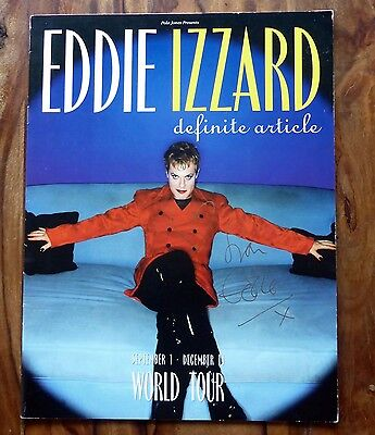 SIGNED Eddie Izzard UK Tour programme