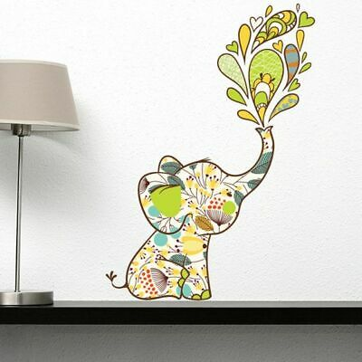 NEW Campfire Graphics Flowery Elephant Wall Decal