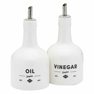 NEW Ecology Staples Foundry Oil & Vinegar Bottle Set