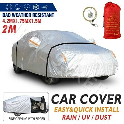 3 Layers Aluminum Waterproof Outdoor Car Cover Double Thick Rain UV Resistant AU