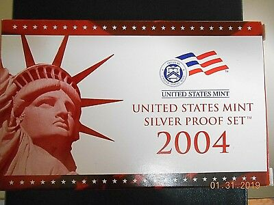 2004 U.S. Mint Silver Proof Set w OGP