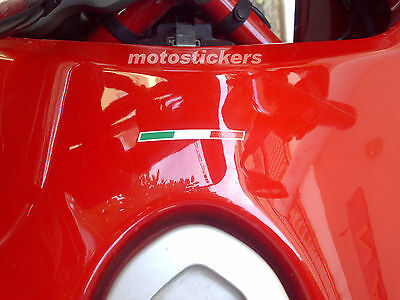 1 adesivo bandiera italiana moto DUCATI - tuning decal stickers - italian flag