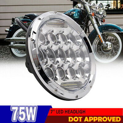 """7"""" Round Front LED Projector Daymaker Headlight Daytime Running Light for Harley"""