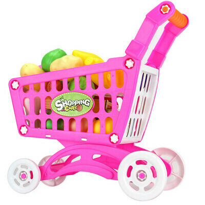 Children Trolley Fruit Vegetable Play Kitchen pretend & Play Educational Toy