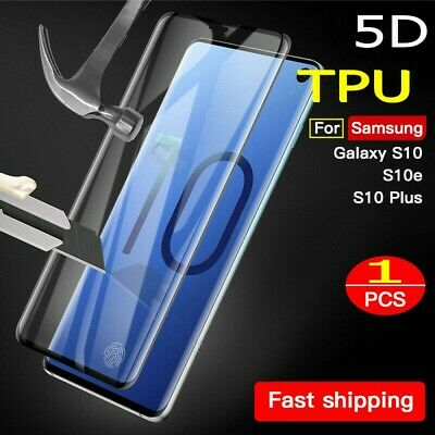 5D Full Coverage Soft Film Screen Protector for Samsung Galaxy S10 S9Plus Note 9