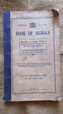 1930 Victorian Railways Book of Signals Whistles Levers Local Roads for Engine D