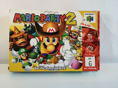 Mario Party 2-No Game -Box And Insert Only!!!!!!!!!- No Game-N64 Nintendo 64-Pal