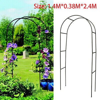 Large 2.4M Metal Garden Arch Heavy Duty Strong Rose Plant Climbing Wedding Decor