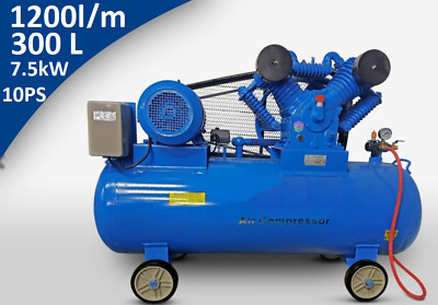 Compressed Air Piston 300 Litre 10ps 1200l/Min 7.5 Kw 12bar 400v