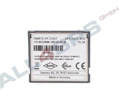 Simatic Ipc, Cfast, 16 Gb, Industrial Grade, 6Es7648-2Bf10-0Xj0